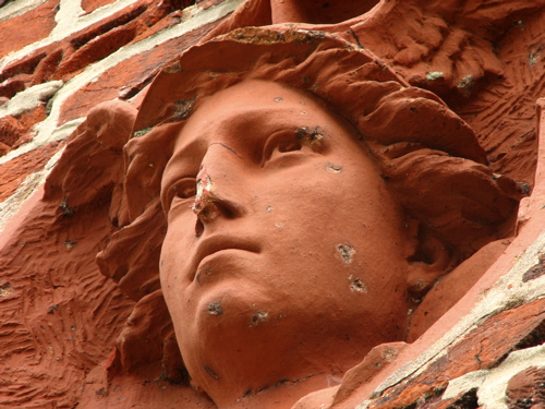 Terracotta face at Gathland State Park